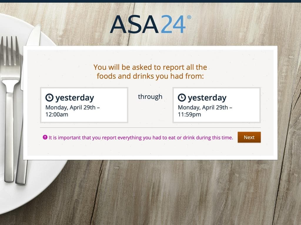 Screen shot of ASA24.
