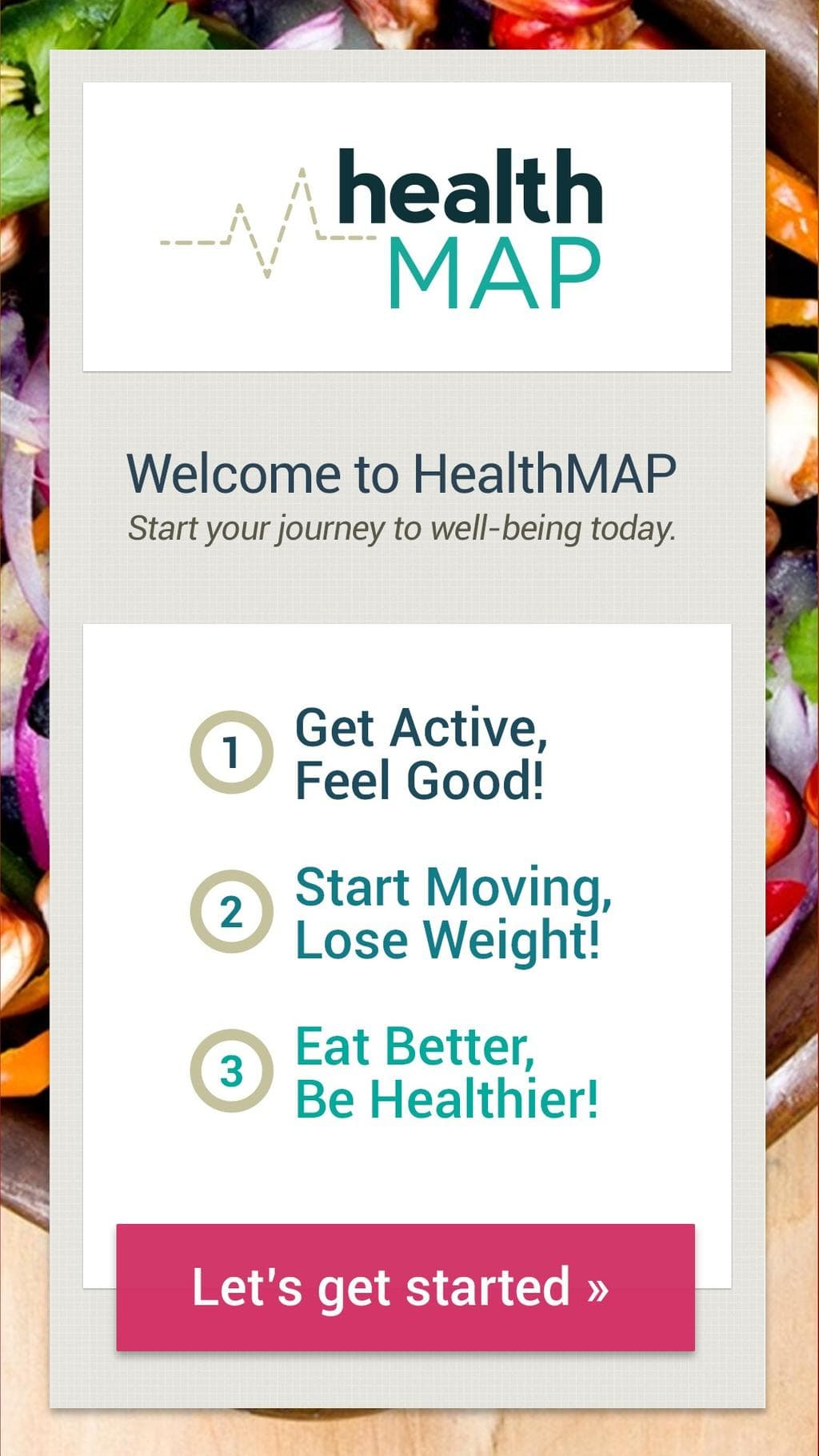 Screen shot of HealthMAP.