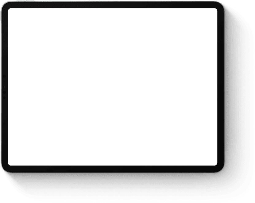 Computer tablet in landscape orientation.